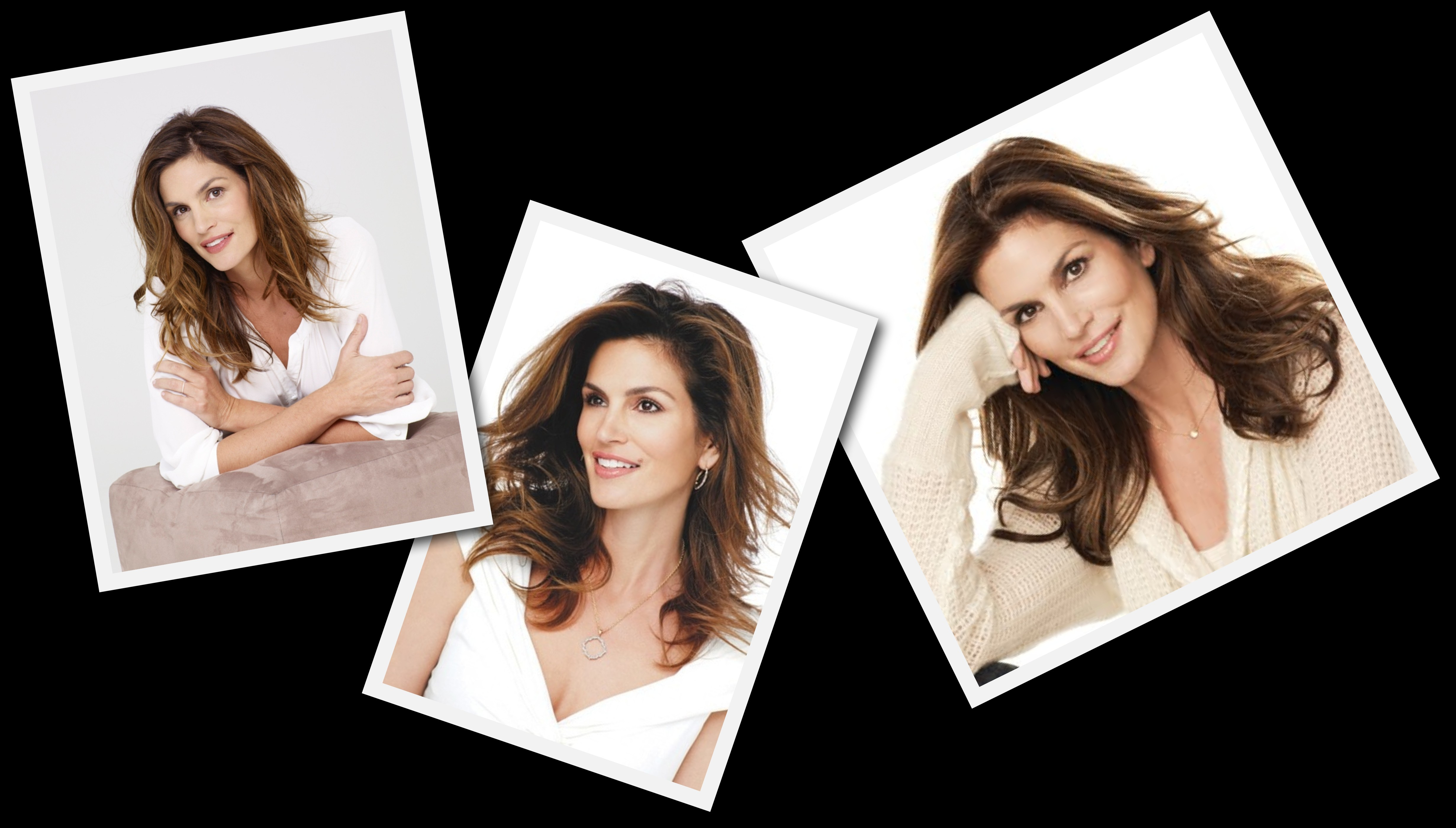 cindy Crawford's first modeling job as a teenager was a lingerie advertisement to ...
